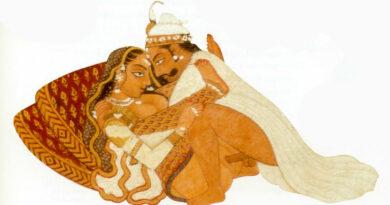 Predgovor Kama Sutri Detalj sa indijske slike, pozni XVIII vek